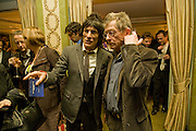 RONNIE WOOD; JOHN HURT, South Bank Show Awards, Dorchester Hotel, Park Lane. London. 20 January 2009 *** Local Caption *** -DO NOT ARCHIVE-© Copyright Photograph by Dafydd Jones. 248 Clapham Rd. London SW9 0PZ. Tel 0207 820 0771. www.dafjones.com.<br /> RONNIE WOOD; JOHN HURT, South Bank Show Awards, Dorchester Hotel, Park Lane. London. 20 January 2009