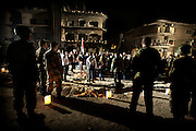 March 21, 2012 , Damascus , Syria : Syrian Youth Scouts lit candles for the souls of the victims who were killed due a suicide blast targeted al Kassa'a neighborhood on March 17 , 2012 and caused tens of victims between dead and injured .