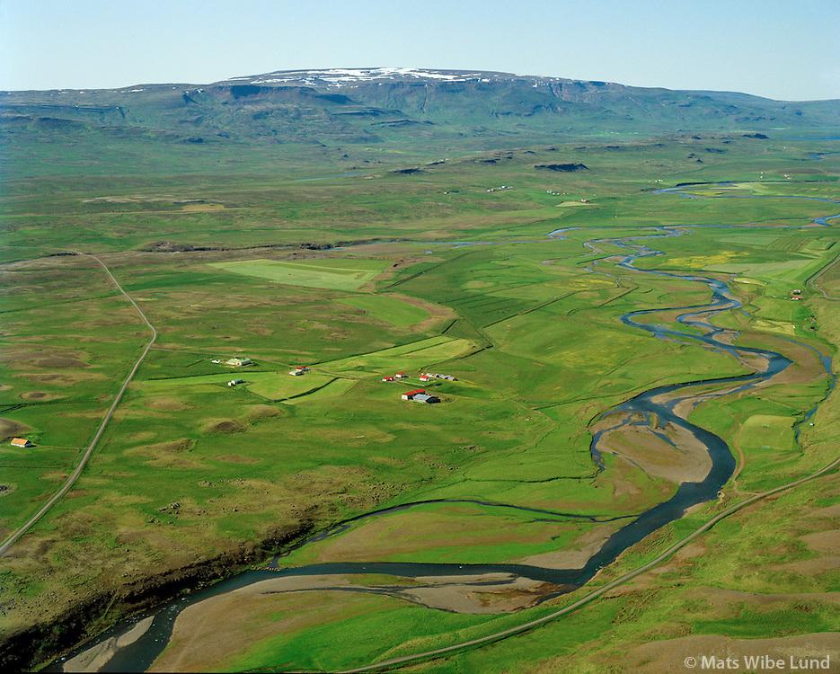 Víðidalstunga séð til norðvesturs, Húnaþing vestra áður Þorkelshólshreppur / Vididalstunga viewing northwest, Hunathing vestra former Thorkelsholshreppur.