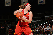 February 13, 2014: Tierney Pfirman #22 of Maryland in action during the NCAA basketball game between the Miami Hurricanes and the Maryland Terrapins at the Bank United Center in Coral Gables, FL. The Terrapins defeated the Hurricanes 67-52.