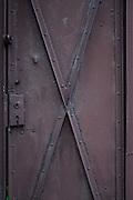 Metal door - close-up