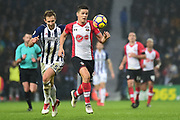 Southampton striker Guido Carrilo (9) sprints forward with the ball during the Premier League match between West Bromwich Albion and Southampton at The Hawthorns, West Bromwich, England on 3 February 2018. Picture by Dennis Goodwin.