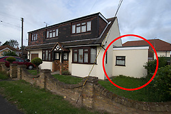 © Licensed to London News Pictures. 22/06/2011. Wickford, Essex. Red circle indicates the room believed to be the bedroom of Ryan CLeary. The home of British Teenager Ryan Cleary on South Beech Avenue, Wickford, Essex, UK. Ryan Cleary was arrested in a joint FBI and Scotland Yard operation, under suspicion of being a mastermind behind notorious international computer hacking group LulzSec. The 19-yer-old was arrested just days after the group claimed it brought down the US Central Intelligence Agency website. Photo credit should read: Ben Cawthra/LNP