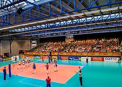 02-04-2017 NED:  CEV U18 Europees Kampioenschap vrouwen dag 2, Arnhem<br /> Nederland - Rusland 3-0 / Sporthal Valkenhuizen is goed gevuld