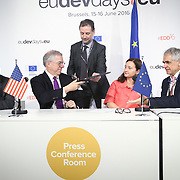 20160615 - Brussels , Belgium - 2016 June 15th - European Development Days - USAID Signature - Eric Postel, Associate Administrator, United States Agency for International Development  and Marjeta Jager, Deputy Director General , European Commission - DG for International Cooperation and Development  © European Union