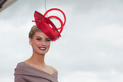 Repro Free. Katie Geoghegan finalist of the coveted g Hotel Best Dressed Lady title at the Galway Races. Photo: Andrew Downes, xposure