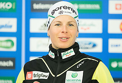 Vesna Fabjan during official presentation of the outfits of the Slovenian Ski Teams before new season 2015/16, on October 6, 2015 in Kulinarika Jezersek, Sora, Slovenia. Photo by Vid Ponikvar / Sportida