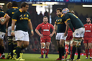 Samson Lee of Wales &copy; looks on. Dove Men series 2014, autumn international rugby match, Wales v South Africa at the Millennium stadium in Cardiff, South Wales on Saturday 29th November 2014<br /> pic by Andrew Orchard, Andrew Orchard sports photography.
