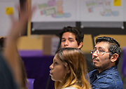 Houston ISD staff, students and architects participate in a design charrette for Houston MSTC, April 24, 2015.