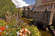 Public toilet built over the river in Pont Aven