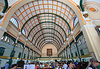 The interior of the Central Post Office in Ho Chi Minh City, Vietnam