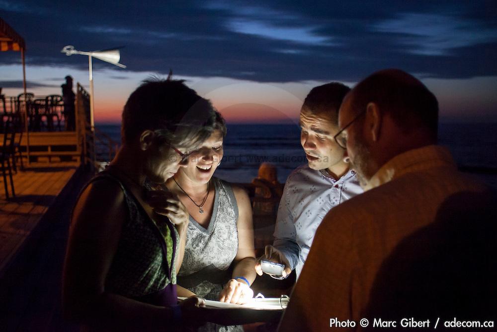 """32e Festival en Chanson de Petite Vallée """"OK on part"""". Couverture photographique © Marc Gibert / adecom.ca pour Francophonie Express à  Théâtre de la Vieille Forge / Petite Vallée / Gaspésie, Quebec / Canada / 2014-07-02, Photo © Marc Gibert / adecom.ca"""