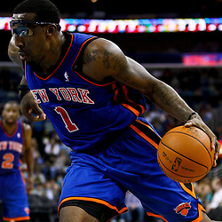 December 3, 2010; New Orleans, LA, USA; New York Knicks power forward Amare Stoudemire (1) during the second half against the New Orleans Hornets at the New Orleans Arena. The Knicks defeated the Hornets 100-92. Mandatory Credit: Derick E. Hingle