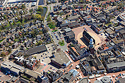 Nederland, Groningen, Gemeente Oldambt,  01-05-2013; centrum Winschoten met Marktplein met Grote Kerk (Marktpleinkerk), de toren 'Olle Witte'.<br /> Small provincial town, marketplace, regional centre (northeast Holland).<br /> luchtfoto (toeslag op standard tarieven);<br /> aerial photo (additional fee required);<br /> copyright foto/photo Siebe Swart