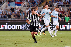 August 13, 2017 - Rome, Italy - Paulo Dybala of Juventus celebrates scoring second goal during the Italian Supercup Final match between Juventus and Lazio at Stadio Olimpico, Rome, Italy on 13 August 2017. (Credit Image: © Giuseppe Maffia/NurPhoto via ZUMA Press)