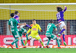 25.10.2015, Ernst Happel Stadion, Wien, AUT, 1. FBL, SK Rapid Wien vs FK Austria Wien, 13. Runde, im Bild Stefan Schwab (SK Rapid Wien), Richard Windbichler (FK Austria Wien), Richard Strebinger (SK Rapid Wien), Christopher Dibon (SK Rapid Wien), Lukas Rotpuller (FK Austria Wien)// during Austrian Football Bundesliga 13th round match between SK Rapid Vienna and FK Austria Vienna at the Ernst Happel Stadion, Vienna, Austria on 2015/10/25, EXPA Pictures © 2015, PhotoCredit: EXPA/ Sebastian Pucher