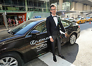 Brad Goreski arrives in a Lexus to the CFDA 2014 Fashion Awards, Monday June 2, 2014 in New York. (Photo by Diane Bondareff/Invision for Lexus/AP Images)
