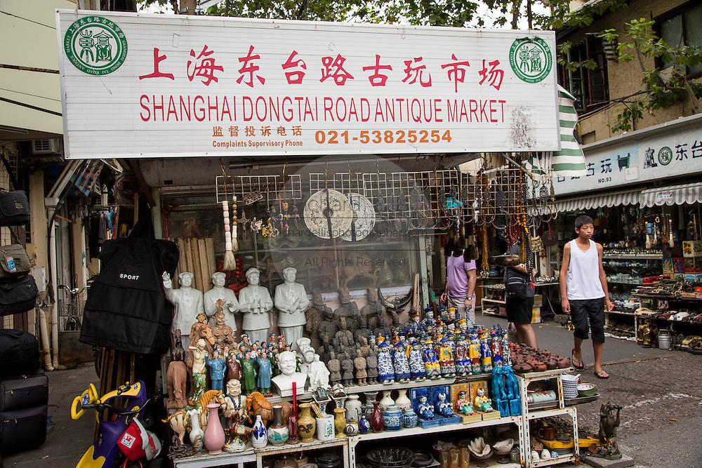 Dongtai Lu antique market in Shanghai, China