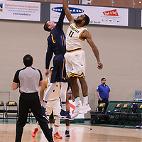 4th year forward Brian Ofori (11) of the Regina Cougars in action during the home opener  on November  4 at Centre for Kinesiology, Health and Sport. Credit: /Arthur Images