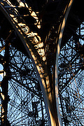 Eiffel Tower, March 31, 1889 (Universal Exhibition in celebration of the French Revolution), Alexandre Gustave Eiffel (1832-1923), 324 meters high, 10,100 tons, 18,038 pieces, 2,500,000 rivets, 1665 steps, seen on January 16, 2011 beneath a sunny late afternoon light, Paris, France. Picture by Manuel Cohen