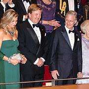 NLD/Amsterdam/20161129 - Staatsbezoek dag 2, contraprestatie Belgische koningspaar, Koningin Maxima, Koning Willem Alexander, Koning Filip, en prinses Beatrix