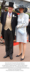 The HON.NICHOLAS & MRS SOAMES at Royal Ascot on 17th June 2003.PKN 36