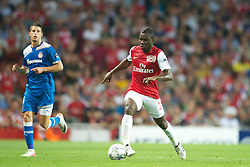 LONDON, ENGLAND - WEDNESDAY, SEPTEMBER 28, 2011: Arsenal's Emmanuel Frimpong in action against Olympiacos during the UEFA Champions League Group F match at the Emirates Stadium. (Photo by Chris Brunskill/Propaganda)