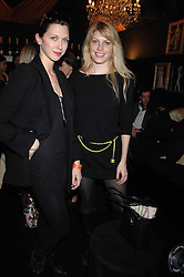 Left to right, MARGO STILLEY and MEREDITH OSTROM daughter of singer Sting in the Moet & Chandon Room at British Fashion Week at the Natural History Museum on 15th February 2007.<br /><br />NON EXCLUSIVE - WORLD RIGHTS
