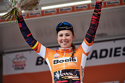 Lisa Klein (GER) takes the lead in the General Classification after Boels Ladies Tour 2019 - Stage 3, a 156.8 km road race starting and finishing in Nijverdal, Netherlands on September 6, 2019. Photo by Sean Robinson/velofocus.com