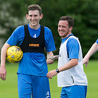 St Johnstone Pre-Season Training in Northern Ireland.. 08.07.16<br />Blair Alston and Danny Swanson<br />Picture by Graeme Hart.<br />Copyright Perthshire Picture Agency<br />Tel: 01738 623350  Mobile: 07990 594431