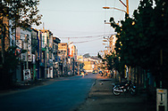 Downtown streets in the early morning hours, Jaffna, Sri Lanka, Asia