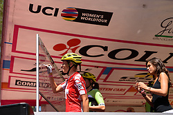Doris Schweizer (Cylance Pro Cycling) signs in at Giro Rosa 2016 - Stage 6. A 118.6 km road race from Andora to Alassio, Italy on July 7th 2016.