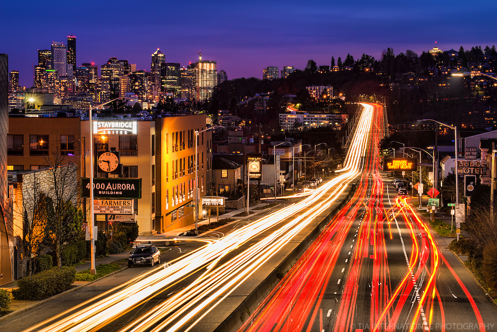Cruising Down Aurora Avenue, Seattle