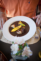 La Olla restaurant and Pilar teaching tamale making OAXACA