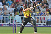 Roelof van der Merwe during the NatWest T20 Blast Quarter Final match between Notts Outlaws and Somerset County Cricket Club at Trent Bridge, West Bridgford, United Kingdom on 24 August 2017. Photo by Simon Trafford.