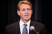 14 FEBRUARY 2011 - PHOENIX, AZ: US Congressman JEFF FLAKE at a press conference to announce that he is running for the US Senate seat being vacated by retiring US Sen. Jon Kyl before Flake's press conference in Phoenix, Monday, Feb.14. Congressman Flake has been in the US House of Representatives since 2001. He is considered a conservative Republican but supports loosening sanctions against Cuba and some form of comprehensive immigration reform. He represents a conservative neighborhood in Mesa, AZ, a suburb of Phoenix.   Photo by Jack Kurtz