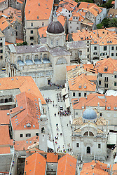 21.06.2015, Dubrovnik, CRO, Dubrovnik ist eine Stadt im südlichen Kroatien an der Adria, im Bild Panoramic view of Dubrovnik from Srdj Mountain. Dubrovnik Cathedral of the Assumption of the Virgin Mary // is a city in southern Croatia on the Adriatic Sea, pictured on 17. June in Dubrovnik, Croatia on 2015/06/21. EXPA Pictures © 2015, PhotoCredit: EXPA/ Pixsell/ Grgo Jelavic<br /> <br /> *****ATTENTION - for AUT, SLO, SUI, SWE, ITA, FRA only*****