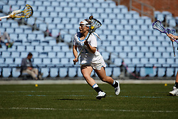 CHAPEL HILL, NC - MARCH 02: Gianna Bowe #21 of the North Carolina Tar Heels during a game against the Northwestern Wildcats on March 02, 2019 at the UNC Lacrosse and Soccer Stadium in Chapel Hill, North Carolina. North Carolina won 11-21. (Photo by Peyton Williams/US Lacrosse)