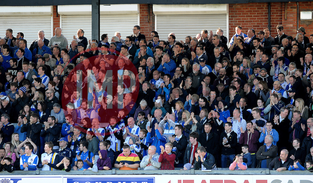 Bristol Rovers fans - Photo mandatory by-line: Neil Brookman/JMP - Mobile: 07966 386802 - 07/03/2015 - SPORT - Football - Bristol - Memorial Stadium - Bristol Rovers v Eastleigh - Vanarama Football Conference