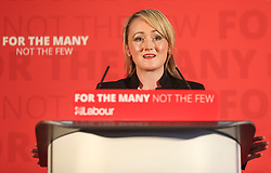 © Licensed to London News Pictures. 02/06/2017. York UK. Shadow Business Secretary REBECCA LONG BAILEY delivers a speech at York Science Park, outlining the party's strategy to deliver jobs and strengthen the economy. Photo credit: Andrew McCaren/LNP