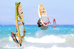 26.07.2015, Costa Calma, Fuerteventura, ESP, PWA Windsurfing Freestyle Grand Slam, im Bild mitte: Thode Kiri NB-61 // during the PWA Windsurfing Freestyle Grand Slam at the Costa Calma in Fuerteventura, Spain on 2015/07/26. EXPA Pictures © 2015, PhotoCredit: EXPA/ Eibner-Pressefoto/ Roskaritz<br /> <br /> *****ATTENTION - OUT of GER*****