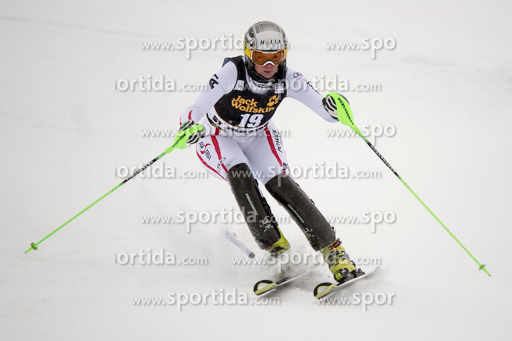 07.12.2012, Engiadina Rennstrecke, St. Moritz, SUI, FIS Ski Alpin Weltcup, Super Combination, Damen, Slalom, im Bild Nicole Hosp in action // during Slalom of ladies Super Combined of FIS ski alpine world cup at the Engiadina course, St. Moritz, Switzerland on 2012/12/07. EXPA Pictures © 2012, PhotoCredit: EXPA/ Newspix/ Dawid Markysz..***** ATTENTION - for AUT, SLO, CRO, SRB, BIH, TUR, SUI and SWE only *****