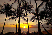 Sunset, Kamaole Beach Park, Kihei, Maui, hawaii