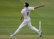 Graham Onions(Durham County Cricket Club)in action taking the wicket of Alex Z Lees (Yorkshire CCC) during the LV County Championship Div 1 match between Durham County Cricket Club and Yorkshire County Cricket Club at the Emirates Durham ICG Ground, Chester-le-Street, United Kingdom on 28 June 2015. Photo by George Ledger.