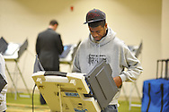 Bobby Hudgens votes at the Oxford Conference Center in Oxford, Miss. on Tuesday, November 6, 2012. (AP Photo/Oxford Eagle, Bruce Newman)