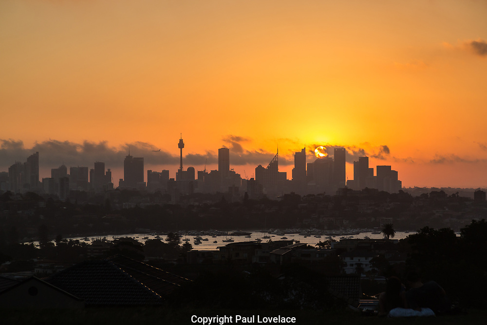 Sunset at Dudley Page Reserver, Dover Heights, Sydney.Great views from this park of the Sydney Skyline at sunset.