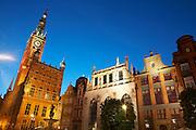 Poland Gdansk Town Hall Long Market (Dlugi Targ)