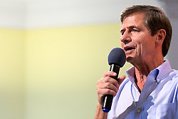 Democratic Presidential hopeful Joe Sestak speaks in Philadelphia, PA, on September 23, 2019. The former Pennsylvania Congressman and former Navy admiral polls less than 1% in a field of currently 19 Democratic candidates.