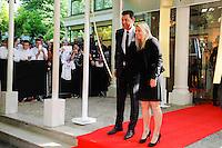 Hubert FOURNIER / Eugenie LE SOMMER  - 17.05.2015 - Ceremonie des Trophees UNFP 2015<br /> Photo : Nolwenn Le Gouic / Icon Sport