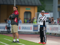 22.07.2015, Grenzland Stadion, Kufstein, AUT, Testspiel, 1. FC Köln vs RCD Espanyol Barcelona, im Bild v.l. Trainer Sergio Gonzalez (Espanyol Barcelona), Peter Stoeger (1. FC Koeln) // during the International Friendly Football Match between 1. FC Cologne and RCD Espanyol Barcelona at the Grenzland Stadion in Kufstein, Austria on 2015/07/22. EXPA Pictures © 2015, PhotoCredit: EXPA/ Johann Groder